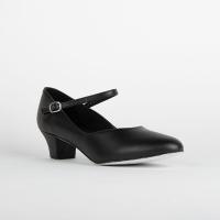 So Danca CH791 zwarte Dansschoenen Met Suède Zool En 35 mm Hakje